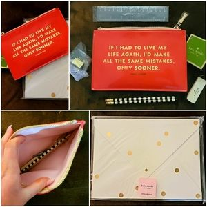 Kate Spade ♠️ Adorable Office Carrying Set
